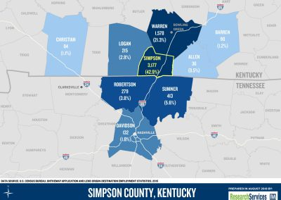 2018 Simpson County, KY - Outbound Commuting Patterns Map copy